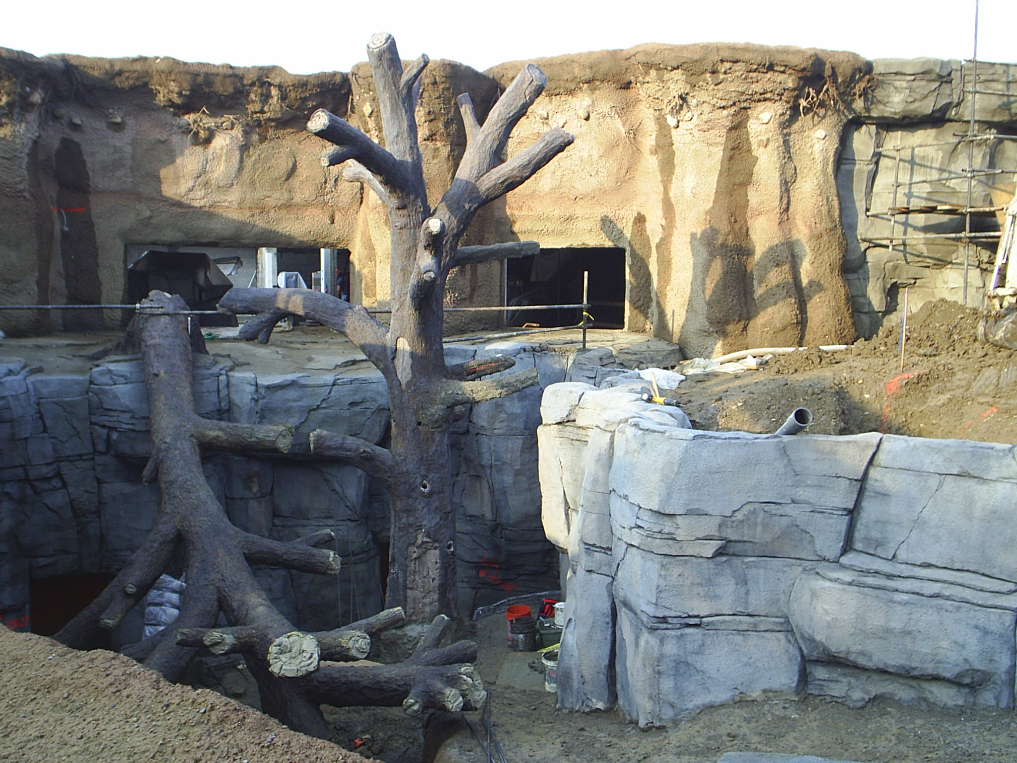 Shotcrete at the Columbus Zoo
